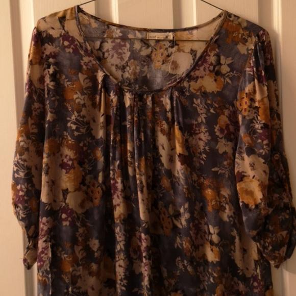 Floral Tunic Blouse 2XL